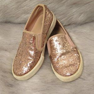 GAP - SLIP ON SPARKLY PINK SHOES